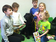 «КниГАВ»: Дети читают собакам